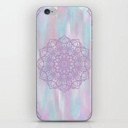 Abstract Pastel Mandala iPhone Skin