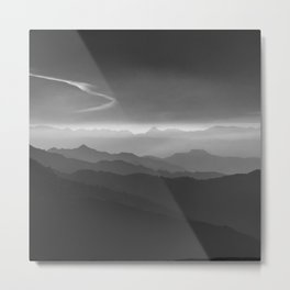 Misty mountains. WB. Yesterday Metal Print