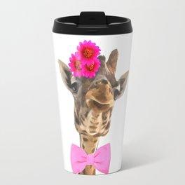Giraffe funny animal illustration Travel Mug