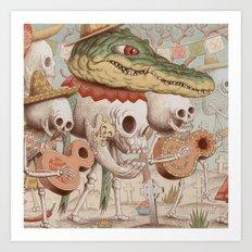 Mexican Skulls 2 Art Print
