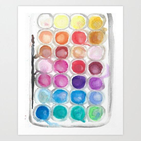 Watercolor Set Art Print