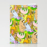 sloths Stationery Cards featuring Sloths by Vincy Cheung