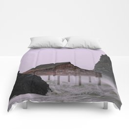 Stormy Weather on the Coast Comforters