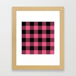 Pink & Black Buffalo Plaid Framed Art Print