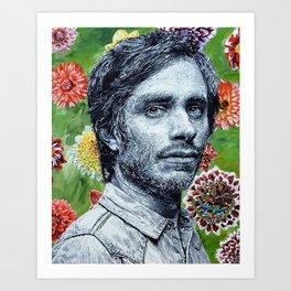 Gael Garcia Bernal Art Print