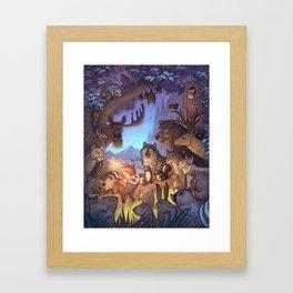 Forest Story / illustration Framed Art Print