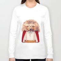 hedgehog Long Sleeve T-shirts featuring Hedgehog by Animal Crew