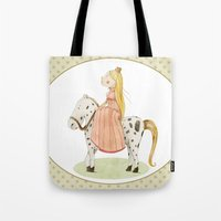 princess Tote Bags featuring Princess by Judith Loske