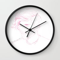 zayn Wall Clocks featuring Zayn Malik by Flambino Gambino