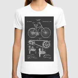 Vintage Bicycle patent illustration 1890 T-shirt