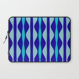 Curvy Blue Stripes Laptop Sleeve