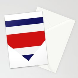 costa rica flag Stationery Cards