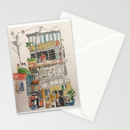 Street facade Stationery Cards