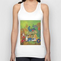 alice in wonderland Tank Tops featuring Wonderland by joanniegelinas