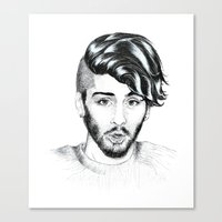 zayn Canvas Prints featuring Zayn by wreckthisjessy