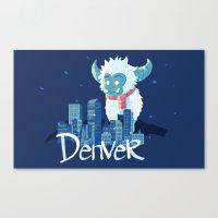 denver Canvas Prints featuring Denver by queeneyesore