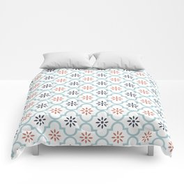 Red & Blue Mute Lattice Comforters