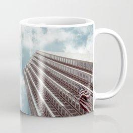 Plane high rise buildings Coffee Mug