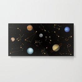 Coffee in Space 3 Metal Print