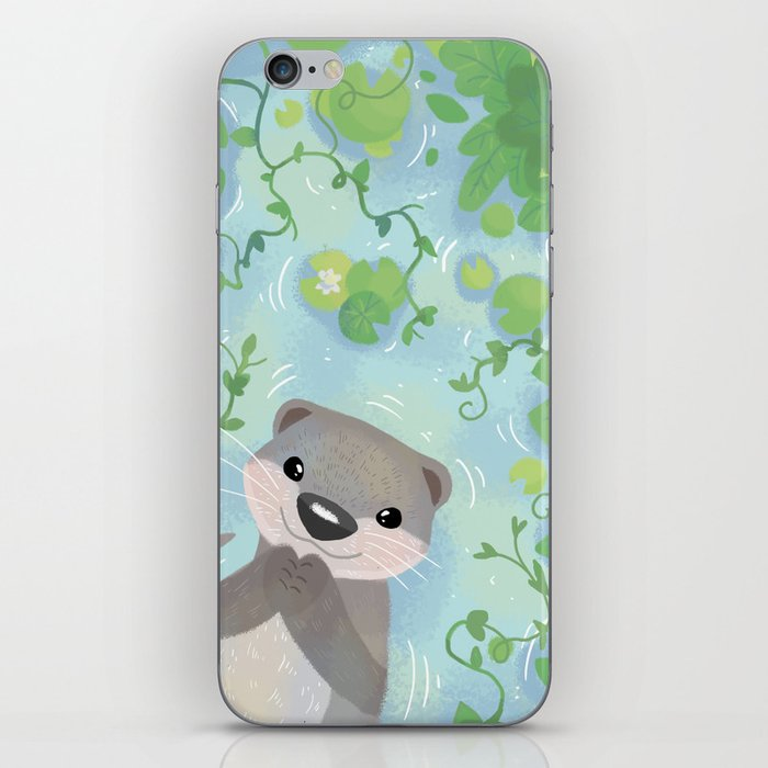 Otter in the Water iPhone Skin