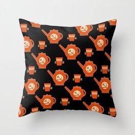soviet pattern Throw Pillow