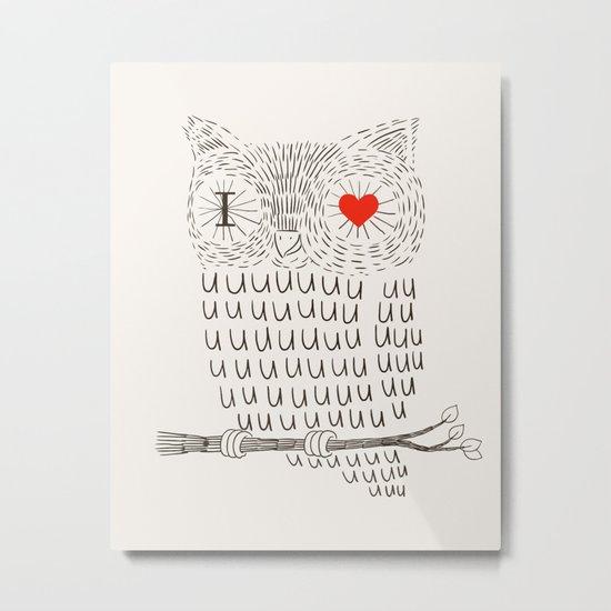 I Love Uuuuuuuu Metal Print