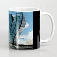 buildings Mugs featuring Buildings by Kathleen Stephens