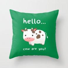 Good Mooorning! Throw Pillow