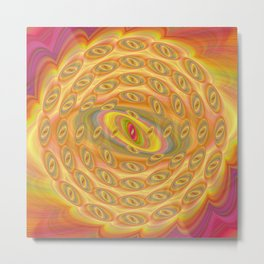 Hypnotic Eyes of the Sun Metal Print