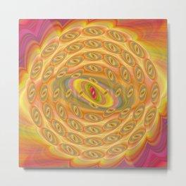 Hypnotic Eyes of the Sun Metal Print