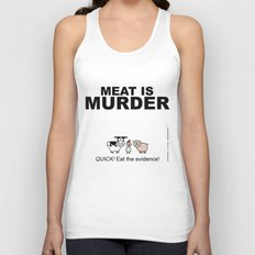 MEAT IS (tasty) MURDER Unisex Tank Top