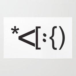 Santa Face Geek Computer Language IT Christmas Rug