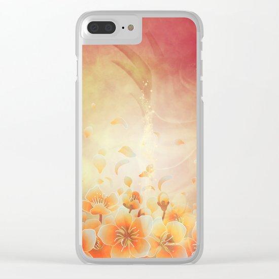 Elegant, colorful floral design Clear iPhone Case