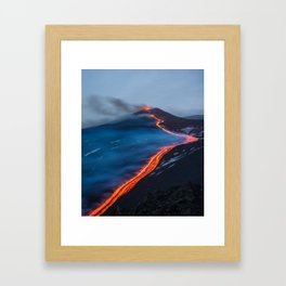 WHEN THE BEACH TURNS RED Framed Art Print