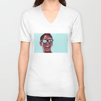 mucha V-neck T-shirts featuring This Magic Moment by Jared Yamahata