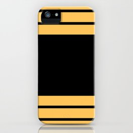 The intertwining pink and yellow ribbons iPhone Case