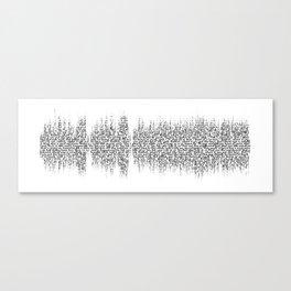 Cornflake Girl soundwave with lyrics - for light backgrounds Canvas Print