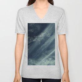 Cloud and sky 11 -cloud, sky, blue, positive,optimism Unisex V-Neck