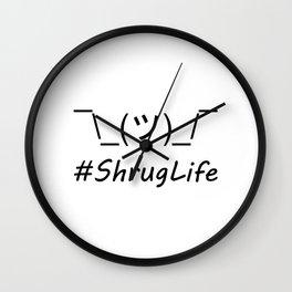 #ShrugLife Wall Clock
