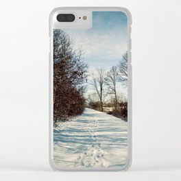 Winter Path Clear iPhone Case
