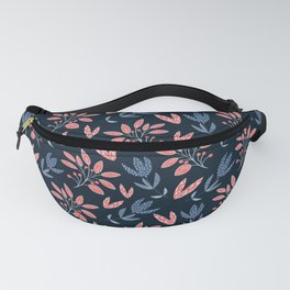 The vintage stylized flowers and berries Fanny Pack