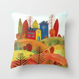 Colorful forest III Throw Pillow