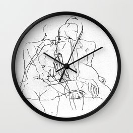 Pale Woman Wall Clock