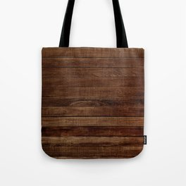 Dark Wood Tote Bag