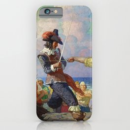 """The Duel on the Beach"" by NC Wyeth iPhone Case"