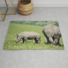 Rhino & Baby in South Africa Rug