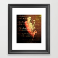 Pure Sax Framed Art Print