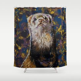 Regal Ferret Shower Curtain