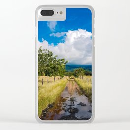 Colombian mud road. Clear iPhone Case