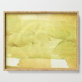 Yellow green watercolor Serving Tray
